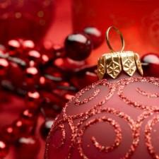 圣诞节彩球高清宽屏壁纸-37