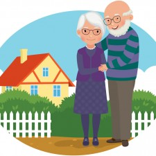 Retirement-Couple-In-Front-of-House